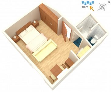 Studio flat AS-2014-a - Apartments and Rooms Barbat (Rab) - 2014
