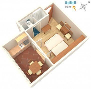 Studio flat AS-2014-b - Apartments and Rooms Barbat (Rab) - 2014