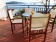 Seget Vranjica, Terrace u smještaju tipa apartment, s pogledom na more, dopusteni kucni ljubimci i WIFI.
