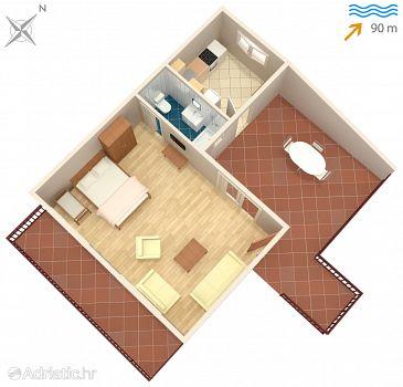 Studio flat AS-2045-a - Apartments Mastrinka (Čiovo) - 2045
