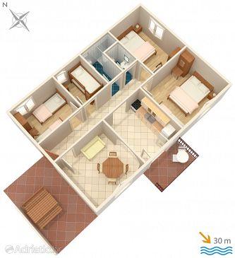House K-2057 - Vacation Rentals Uvala Tvrdni Dolac (Hvar) - 2057