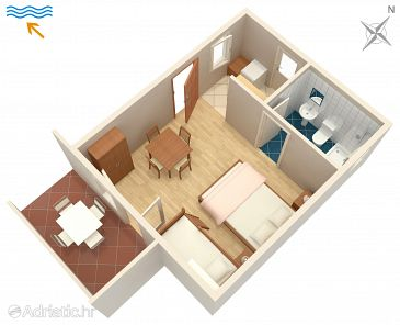 Studio flat AS-206-a - Apartments and Rooms Metajna (Pag) - 206