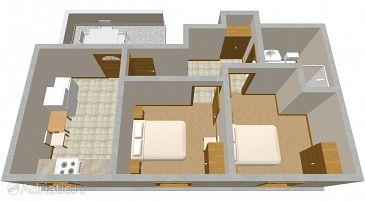 Apartment A-2066-b - Apartments Uvala Zaraće (Hvar) - 2066