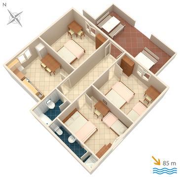 Apartament A-2071-a - Apartamenty Uvala Torac (Hvar) - 2071