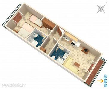 Apartment A-2073-e - Apartments Uvala Pokrivenik (Hvar) - 2073