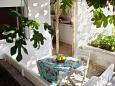 Rastići, Terrace u smještaju tipa studio-apartment, s pogledom na more, dopusteni kucni ljubimci i WIFI.