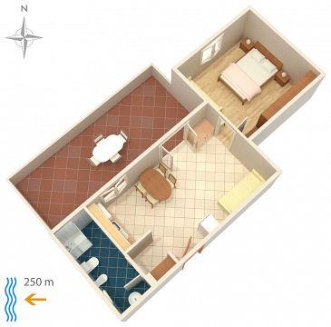 Apartament A-208-a - Apartamenty Metajna (Pag) - 208