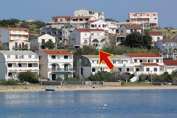 Obiekt Metajna (Pag) - Zakwaterowanie 208 - Apartamenty z piaszczystą plażą.