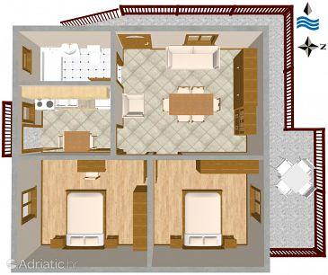 Apartment A-2082-a - Apartments Seget Vranjica (Trogir) - 2082