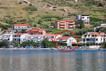 Property Metajna (Pag) - Accommodation 209 - Apartments near sea with sandy beach.