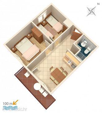 Vinišće, Plan u smještaju tipa apartment, WIFI.