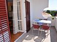 Novalja, Terrace u smještaju tipa apartment, s pogledom na more i WIFI.