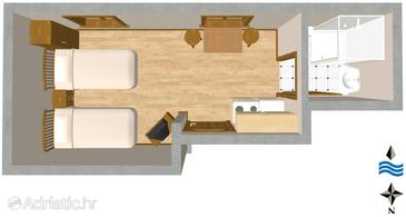 Studio flat AS-2112-a - Apartments and Rooms Split (Split) - 2112