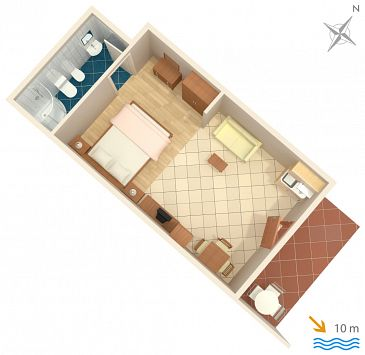 Studio flat AS-2146-b - Apartments Srebreno (Dubrovnik) - 2146