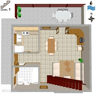 House K-2195 - Vacation Rentals Seget Vranjica (Trogir) - 2195
