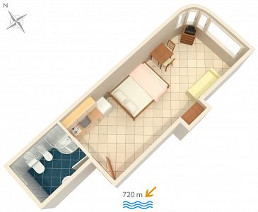 Studio AS-2243-c - Apartamenty Rovinj (Rovinj) - 2243