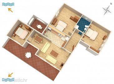 Banjole, Plan u smještaju tipa apartment.