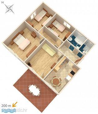 Banjole, Plan u smještaju tipa apartment, WIFI.