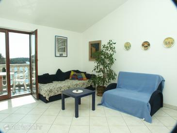Pješčana Uvala, Living room u smještaju tipa apartment, dopusteni kucni ljubimci i WIFI.