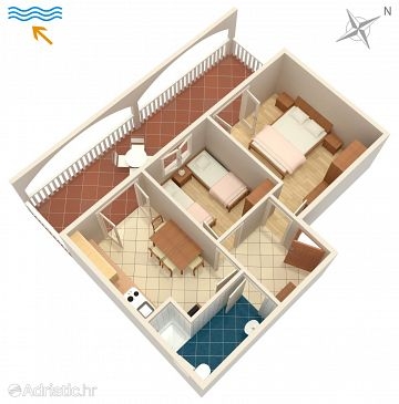 Apartment A-235-a - Apartments Stara Novalja (Pag) - 235