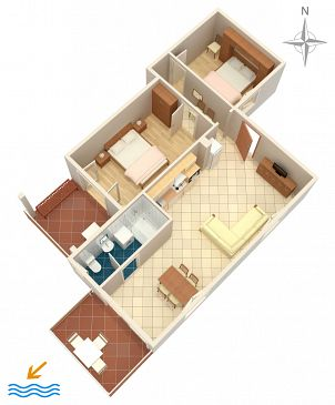 Apartment A-2377-c - Apartments Jadranovo (Crikvenica) - 2377