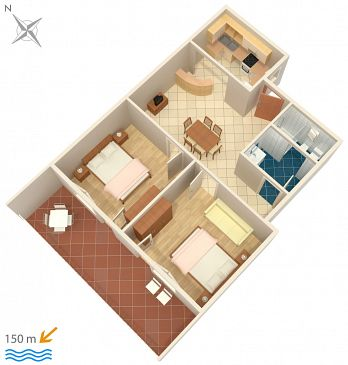 Apartament A-2387-a - Apartamenty Dramalj (Crikvenica) - 2387