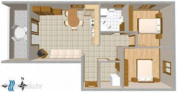 Apartment A-2396-a - Apartments Njivice (Krk) - 2396