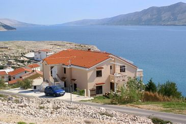 Property Zubovići (Pag) - Accommodation 240 - Apartments near sea with pebble beach.
