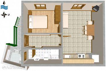 Apartment A-2412-c - Apartments Vis (Vis) - 2412