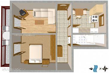 Apartment A-2419-a - Apartments Novi Vinodolski (Novi Vinodolski) - 2419