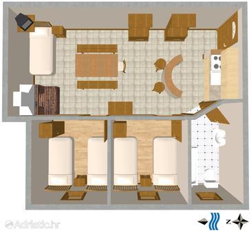 Apartment A-2419-c - Apartments Novi Vinodolski (Novi Vinodolski) - 2419