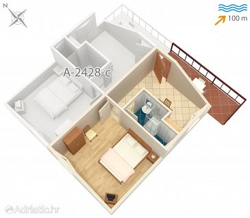 Apartment A-2428-b - Apartments Vis (Vis) - 2428