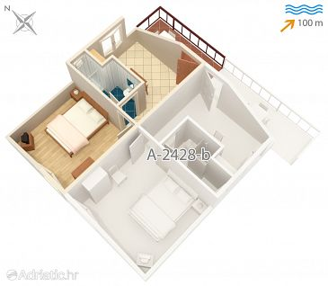 Apartment A-2428-c - Apartments Vis (Vis) - 2428