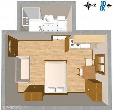 Studio flat AS-2431-a - Apartments and Rooms Komiža (Vis) - 2431