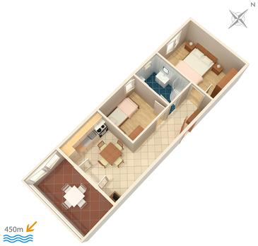 Apartament A-244-b - Apartamenty Povljana (Pag) - 244