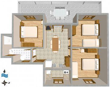 Apartament A-2460-a - Apartamenty Uvala Rogačić (Vis) - 2460
