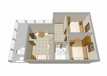 Apartament A-247-b - Apartamenty Zavalatica (Korčula) - 247