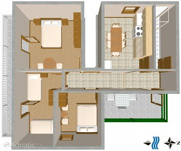 Apartment A-2477-b - Apartments Vis (Vis) - 2477
