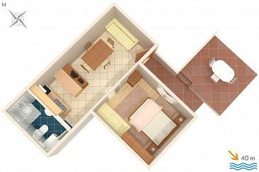 Apartment A-2493-a - Apartments Mali Lošinj (Lošinj) - 2493