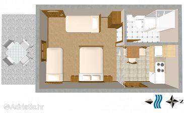 Studio flat AS-250-a - Apartments and Rooms Trpanj (Pelješac) - 250