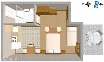 Studio flat AS-250-b - Apartments and Rooms Trpanj (Pelješac) - 250