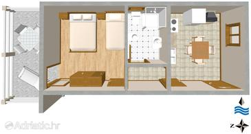 Apartment A-2501-a - Apartments Mali Lošinj (Lošinj) - 2501