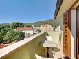 Nerezine, Balcony u smještaju tipa apartment, s pogledom na more, dopusteni kucni ljubimci i WIFI.