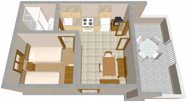 Apartment A-2570-a - Apartments Slatine (Čiovo) - 2570