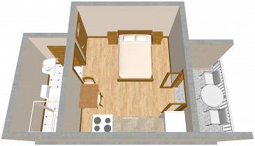 Studio AS-2575-b - Apartamenty Podaca (Makarska) - 2575