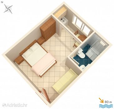 Studio flat AS-2575-c - Apartments Podaca (Makarska) - 2575