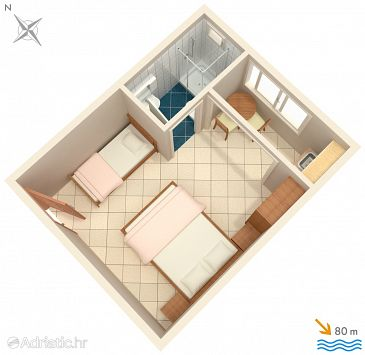 Studio flat AS-2575-h - Apartments Podaca (Makarska) - 2575