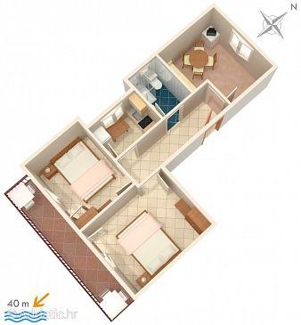 Apartment A-2580-a - Apartments Podaca (Makarska) - 2580
