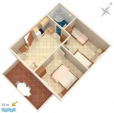 Apartament A-2583-d - Apartamenty Uvala Jedra (Hvar) - 2583
