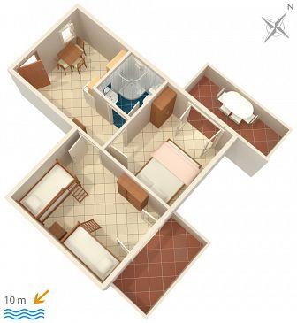 Apartament A-2583-g - Apartamenty Uvala Jedra (Hvar) - 2583